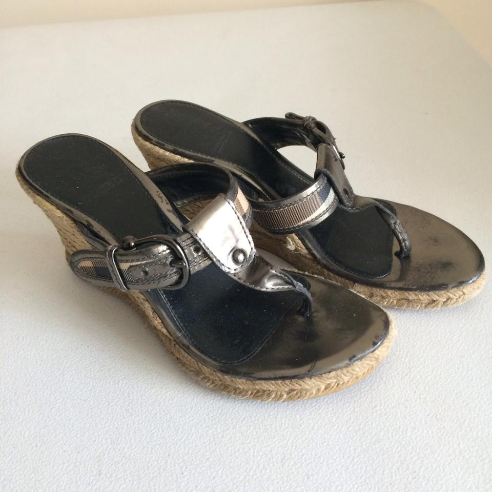 a0240e8a61d2 Burberry Thong Sandals Espadrille Wedges Image 3. 1234