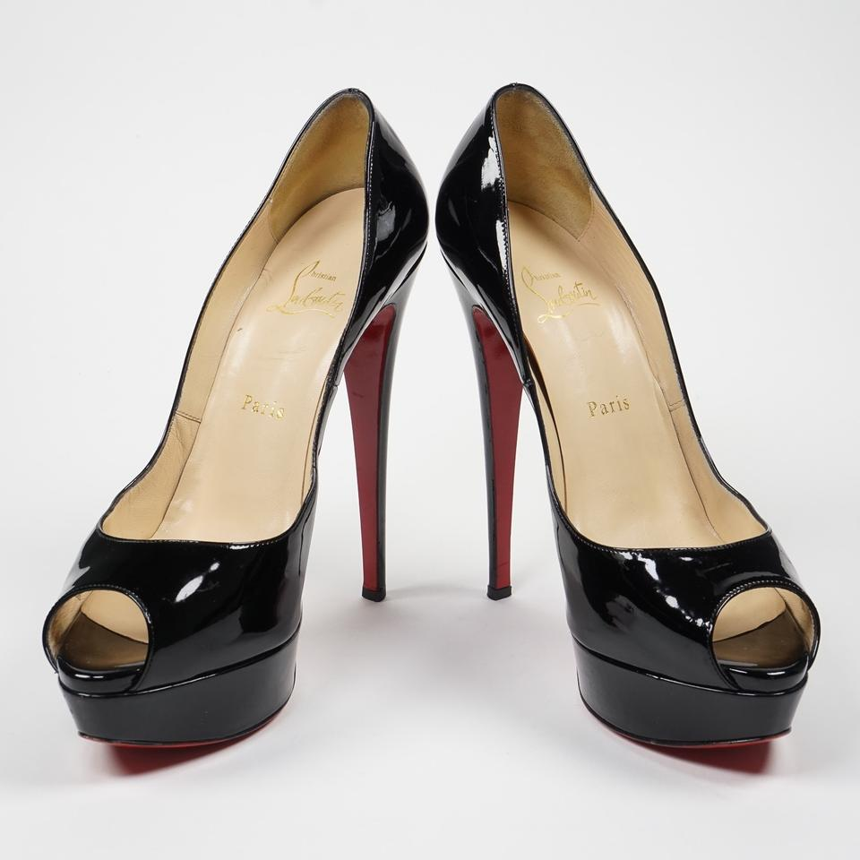 christian louboutin shoes fake - Christian Louboutin Lady Peep 150mm 40/9-9.5 Patent Leather Peep ...