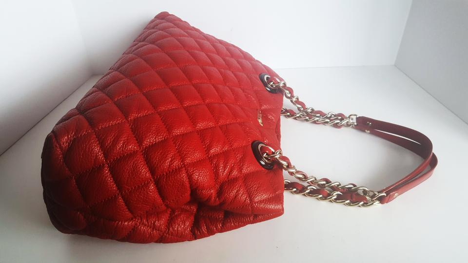 Kate Spade Red Leather Large Gold Coast Maryanne Quilted Shoulder ... : kate spade red quilted bag - Adamdwight.com