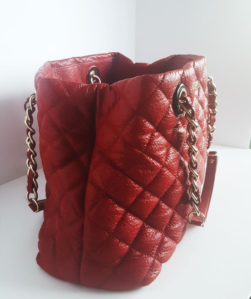 Kate Spade Large Valentines Day Maryanne Quilted Red Leather ... : kate spade red quilted bag - Adamdwight.com