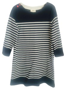 Anthropologie short dress Black and White Striped Shift on Tradesy