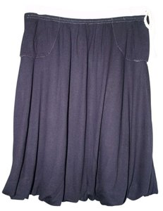 Maje Balloon Skirt Navy Blue