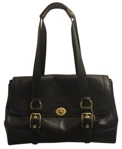 Coach Leather Gold Shoulder Bag