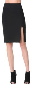 bebe Fitted Sexy Pencil Thigh High Slit Skirt Black