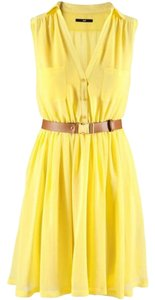 H&M short dress Yellow Work Summer Bcbg on Tradesy