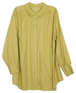 Avenue Blouse 26/28 Button Down Shirt Lime green
