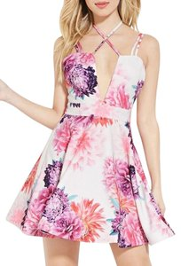 Forever 21 short dress NWT Tiger Mist Strappy Floral Print Fit And Flare Skater on Tradesy