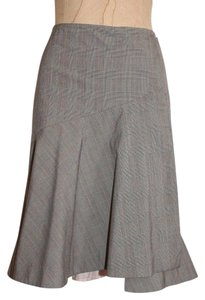 Rebecca Taylor High Low Career Skirt PLAID