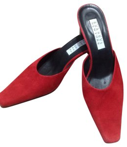 Barneys New York Red Mules