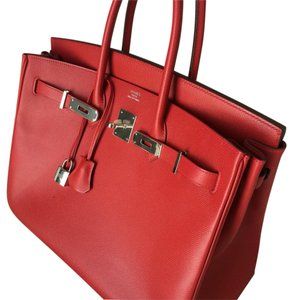 Herms Satchel in Red