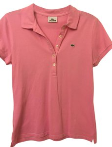 Lacoste Polo Slim Button Down Shirt Pink