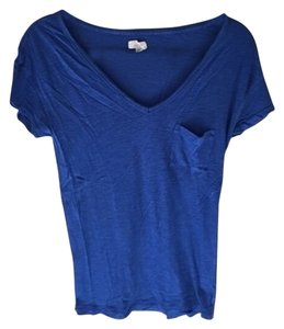 Aerie Navy V Neck Soft T Shirt Blue