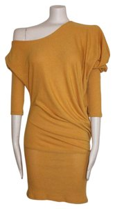 POINT short dress YELLOW Off Shouldre Cold Shoulder on Tradesy