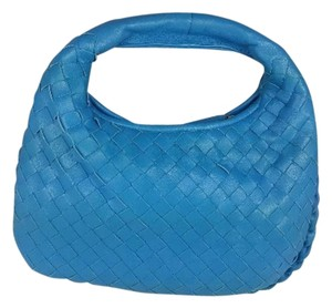 Bottega Veneta Small Cornflower Blue Makeup Hobo Bag