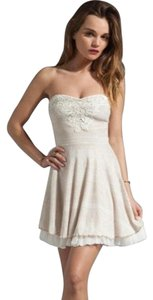 Free People Fit And Flare Embellished Strapless Party Dress