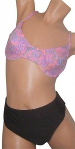 Other SWIMSUIT L NWT CHLORINE RESISTANT 2PC PINK PAISLEY BRA TOP BERMUDA BCH