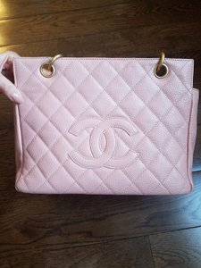 Chanel Caviar Timeless Petite Tote in pink