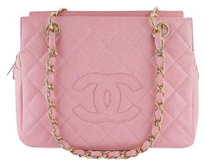 Chanel Caviar Timeless Tote in pink