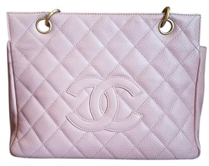 Chanel Caviar Timeless Petite Gst Tote in pink