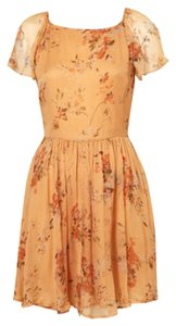 Topshop Print Fall Flowy Girly Dress