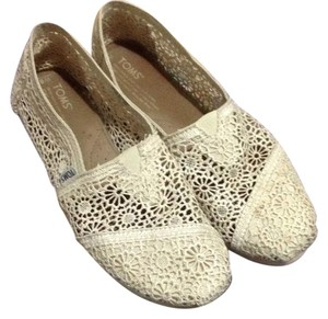TOMS Off white, crochet Flats