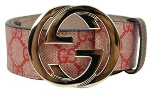 Gucci NEW Authentic GUCCI Belt w/Interlocking G Buckle 114876 Ren Spreme Canvas /8374 95/38
