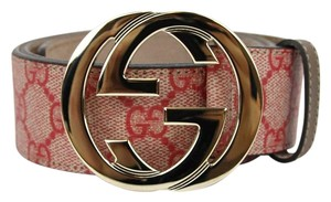Gucci NEW Authentic GUCCI Belt w/Interlocking G Buckle 114876 Ren Spreme Canvas /8374 100/40