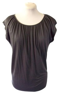 Gap Draped Tee Cap Sleeve Tee Gunmetal Draped Petite T Shirt Gray