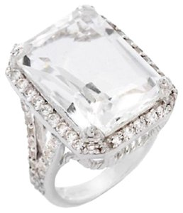 Yours by Loren Yours by Loren 12.66ct White Quartz and White Topaz Sterling Silver Ring - Size 7