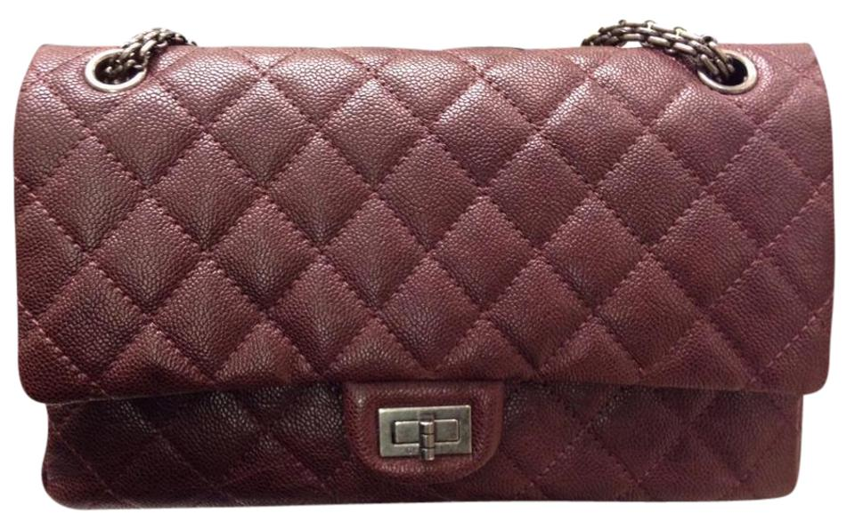 ed34fb0b0233 Chanel 2.55 Reissue Double Flap Classic Burgundy Caviar Shoulder Bag ...