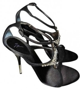 Giuseppe Zanotti Adjustable Ankle Strap Suede And Leather Sandals