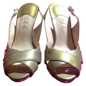 Cole Haan Patent Leather Gold with s Sandals