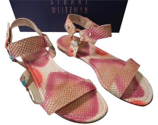 Preload https://item2.tradesy.com/images/stuart-weitzman-pink-multicolor-python-hand-painted-sandals-size-us-9-regular-m-b-1706961-0-0.jpg?width=440&height=440