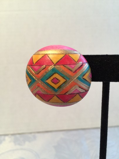 Other Multi-Colored Geometric Design Earrings