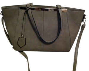 Leather Purse Satchel in Taupe