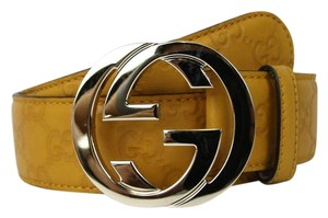 Gucci Belt w/Interlocking G Buckle 114876 Yellow Guccissima 7012 105/42