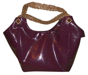 Gianni Bini Shoulder Hobo Tote in purple & tan