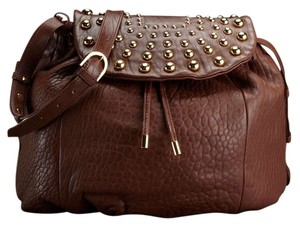 Badgley Mischka Designer Leather Studded Cross Body Bag