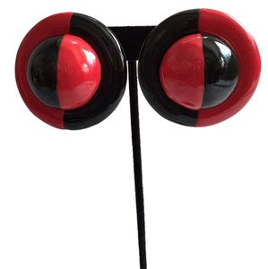 Bold Red/Black Earrings