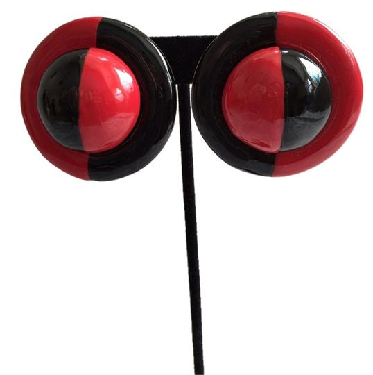 Other Bold Red/Black Earrings