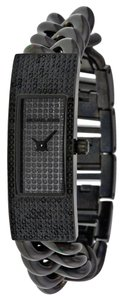Michael Kors MICHAEL KORS WOMENS BLACK PAVE CRYSTAL DIAL TWISTED WATCH MK3308