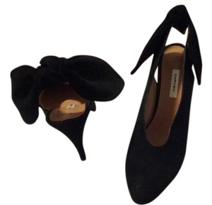 Carven Slingback Suede Made In Italy Black Pumps