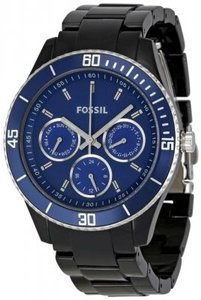 Fossil New Fossil Women's ES2828 Blue Dial Watch