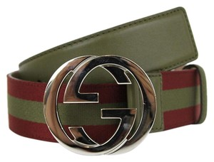 Gucci GUCCI Mens Belt w/Interlocking G Buckle