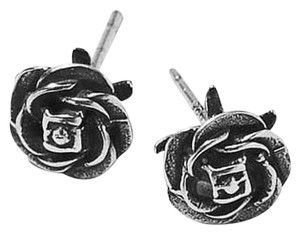 Giles & Brother Giles & Brother Sterling Silver Rose Stud Earrings