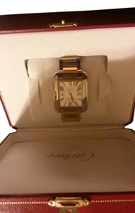 Cartier Cartier Tank Anglaise W5310047 Steel & 18K Yellow Gold Automatic Ladies Watch (10505)