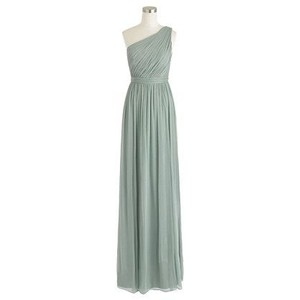J.Crew Dusty Shale Silk Chiffon Kylie Long Dress/Item 04988 Feminine Bridesmaid/Mob Dress Size 6 (S)