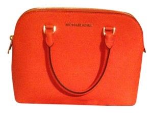 Michael Kors Cindy Convertible Satchel in Orange