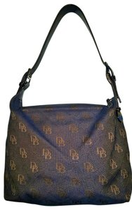Dooney & Bourke Logo Denim Canvas Shoulder Bag