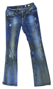 Miss Me Irene 25 Short Boot Cut Jeans-Distressed